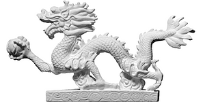 Chinese Dragon with a ball 3D Model