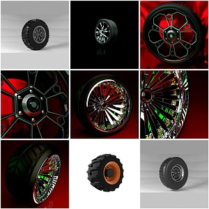 Set of Tires 3D Model