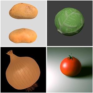 Set of Vegetables 3D Model