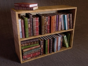 Bookshelf 3D Model