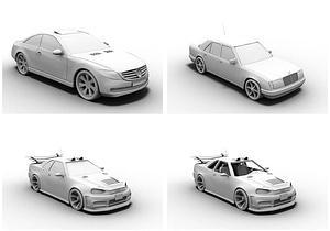 メルセデスと日産車3Dモデル