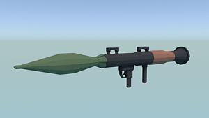 Low Poly Rocket Launcher 3D Model