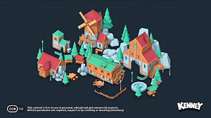 Fantasy Town Kit 3D-model
