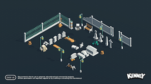 Kirkegårdssæt 3D-model