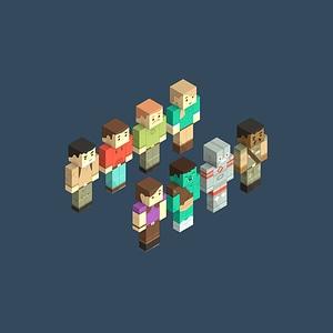 Minecraft Characters 3D Model