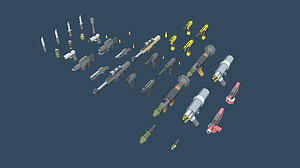 Weapon Pack 3D Model