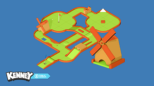 Minigolfpakke 3D-model