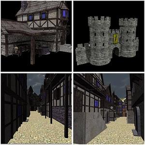 Medieval Village Pack 3D Model