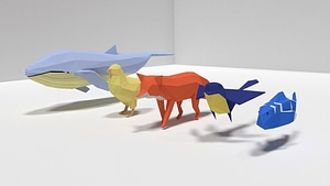 Set of Low Poly Animals 3D Model