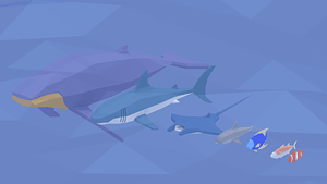 Set of Fish 3D Model