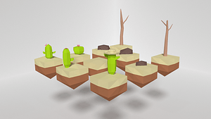 Low Poly Desert Pack 3D Model