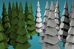 Fir Trees 3D Model