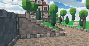 Modular Medieval Village Pack 3D Model