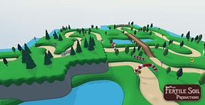 Modular Kart Racing Track 3D Model