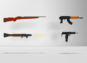 Low Poly Gun Pack 3D Model