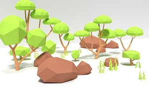 Low Poly Nature Pack 3D-modell