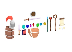 Low Poly RPG Pack 3D Model