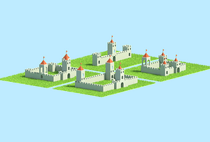 Modulær slottepakke 3D-model
