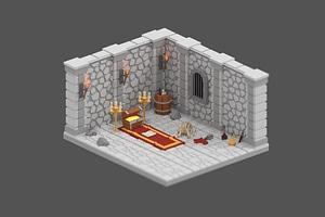 Modular Dungeon 3D-model