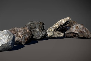 5 Rocks 3D Model