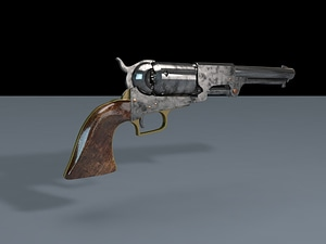 Colt Army Gun 1860 3D Model