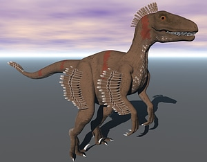 Velociraptor Feathered 3D Model