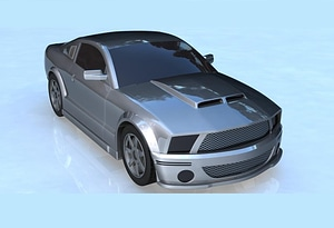 Ford Shelby GT500 (2007) 3D Model