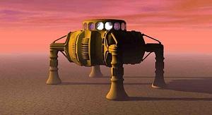 Sci-fi Aterrizador modelo 3D
