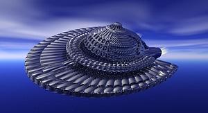 Objeto volador no identificado modelo 3D