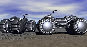 Sci-fi four-wheeler (ATV) 3D Model