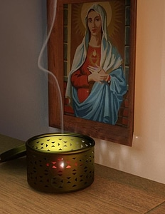 Religious picture frames with candle base holder 3D Model