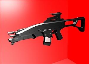 R12 Assault Rifle 3D Model