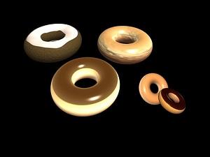 Doughnuts 3D Model