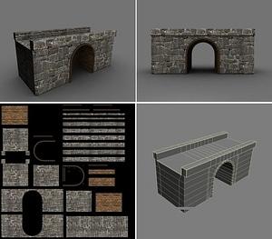 Stone Bridge 3D-model