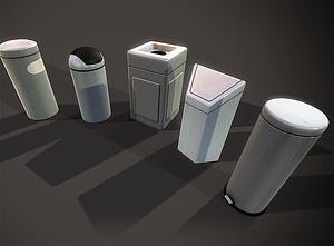 Trash Bins 3D Model
