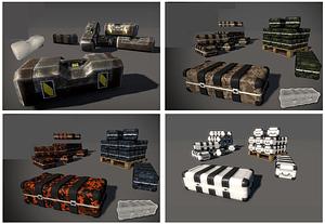 Weapon Ammo Box Set 3D Model