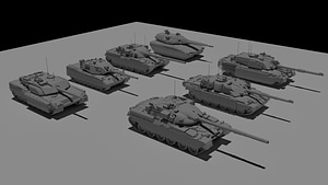 15 Tanks Pack 3D-modell