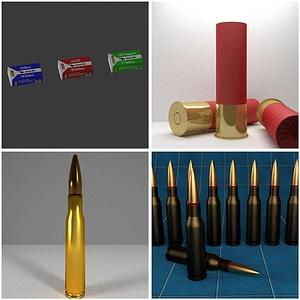 Bullets and Gauge Shells 3D Model