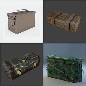 Ammo Cans and Crates 3D Model