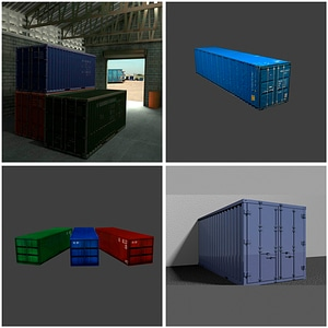 Shipping Containers 3D Model
