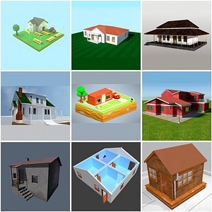 Simple Houses 3D Model