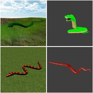 Snakes 3D Model