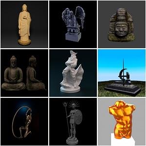 塑像3D模型