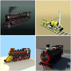 Streampunk Trains 3D Model