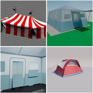 Палатки 3D модель