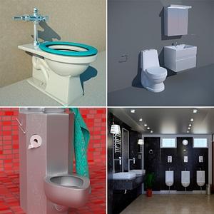 Toilets Interiors 3D Model