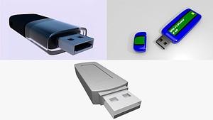 Usb Flashdisk 3D Model