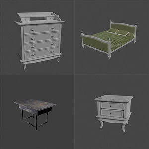Vintage Furniture 3D Model