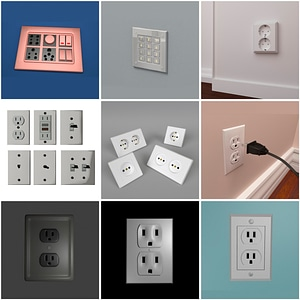 Wall Outlets and Switches 3D Model