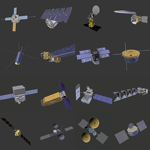 Satellites and Space Telescopes 3D Model